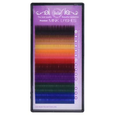 Color Lashes 16 Lines Color MIX C Curl 14mm×0.15mm
