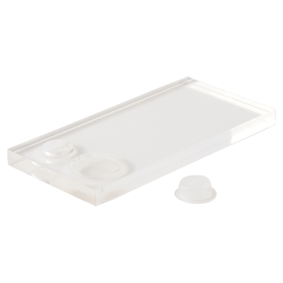 Eyelash Extension Tray with Adhesive/ Remover plates and caps