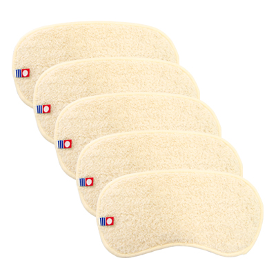 Imabari Forehead Towel (Natural) 5 pcs set