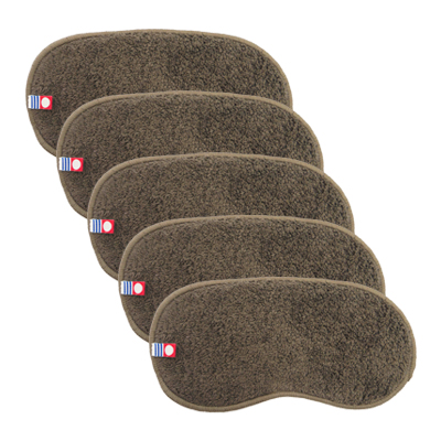Imabari Forehead Towel (Dark Brown) 5 pcs set