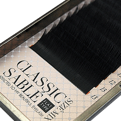 Classic Sable Flat 12 Lines C Curl 0.10mm×9-13mm MIX