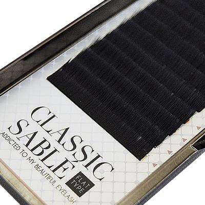 Classic Sable Flat 12 Lines D Curl 9mm×0.15mm