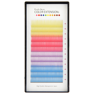 Color Volume Up Lash 12 Lines Pastel MIX J (B) Curl 0.06mm×10mm