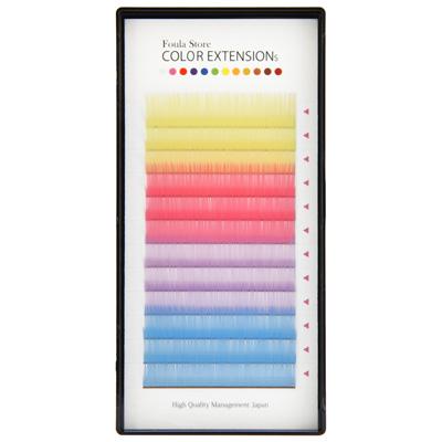Color Volume Up Lash 12 Lines Pastel MIX J (B) Curl 0.06mm×15mm