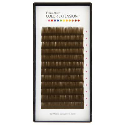 Color Volume Up Lash 12 Lines Khaki Brown C Curl 0.06mm×9mm