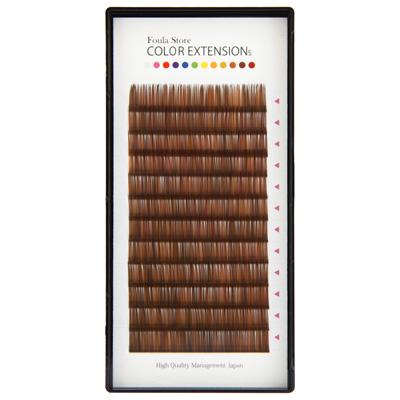Color Volume Up Lash 12 Lines Random MIX Brown J Curl 0.06mm×13mm