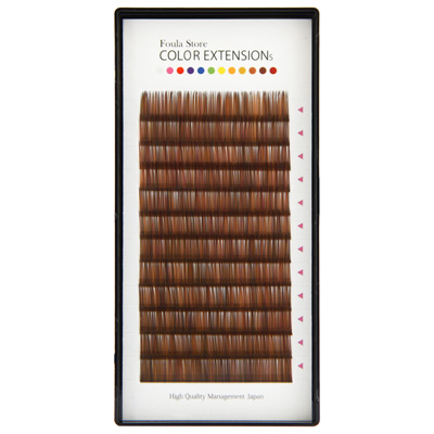 Color Volume Up Lash 12 Lines Random MIX Brown C Curl 0.06mm×10mm