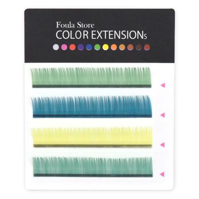 Color Lashes 4 Lines Citrus J (B) Curl 9mm×0.18mm