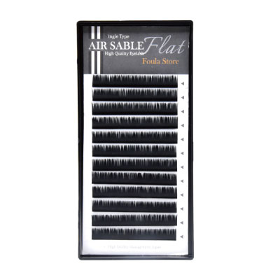 Air Sable Flat D-curl 0.20mm Size Mix (9mm/10mm/11mm/12mm/13mm)